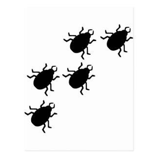 icono de los escarabajos tarjeta postal
