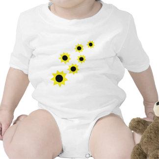icono de los girasoles traje de bebé
