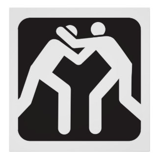 Icono de los luchadores póster