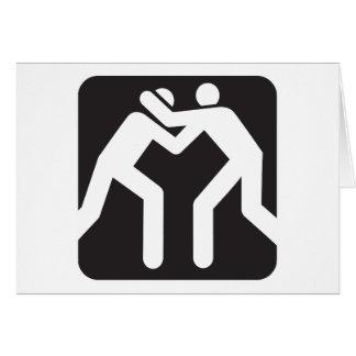 Icono de los luchadores tarjeta de felicitación