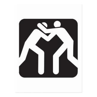 Icono de los luchadores tarjeta postal