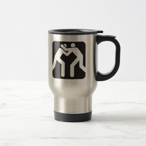 Icono de los luchadores taza térmica