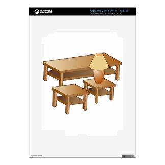 Icono de los muebles de la lámpara de mesa de iPad 3 pegatina skin