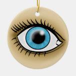 Icono de los ojos azules ornamento para reyes magos