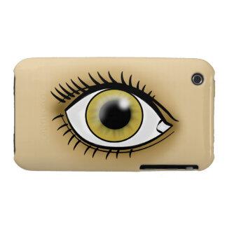 Icono de los ojos pardos funda para iPhone 3 de Case-Mate