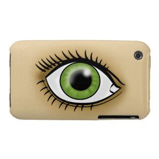 Icono de los ojos verdes funda para iPhone 3
