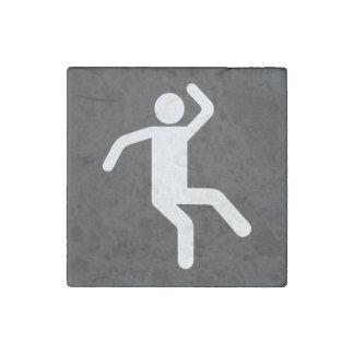 Icono de los pasos de danza imán de piedra