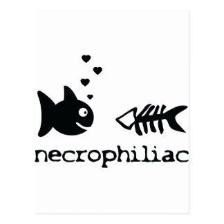 icono de los pescados del philiac del necro postal