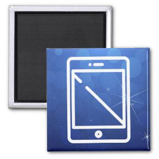 Icono de los smartphones del dispositivo imán cuadrado