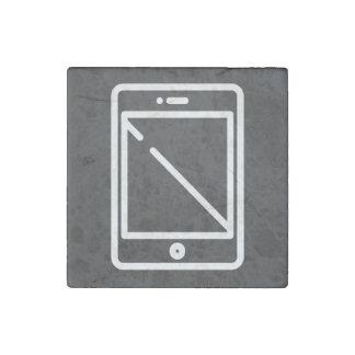 Icono de los smartphones del dispositivo imán de piedra