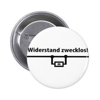 Icono de los zwecklos de Physik Widerstand Pin Redondo De 2 Pulgadas