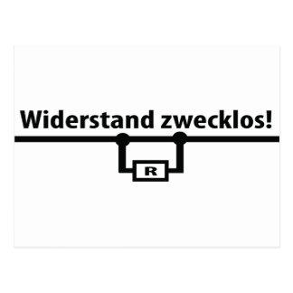 Icono de los zwecklos de Widerstand Tarjetas Postales