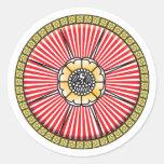 Icono de Lotus Pegatina Redonda