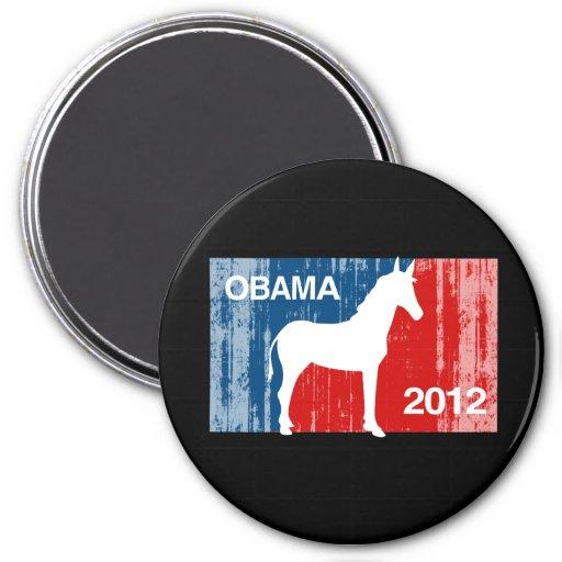 Icono de Obama favorable Imán Redondo 7 Cm