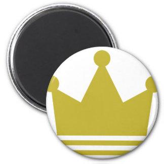 icono de oro de la corona del fiesta iman para frigorífico