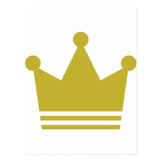 icono de oro de la corona del fiesta postal
