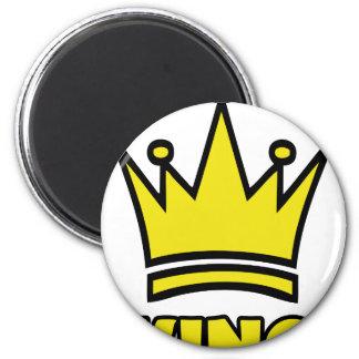 icono de oro de la corona del rey imán redondo 5 cm