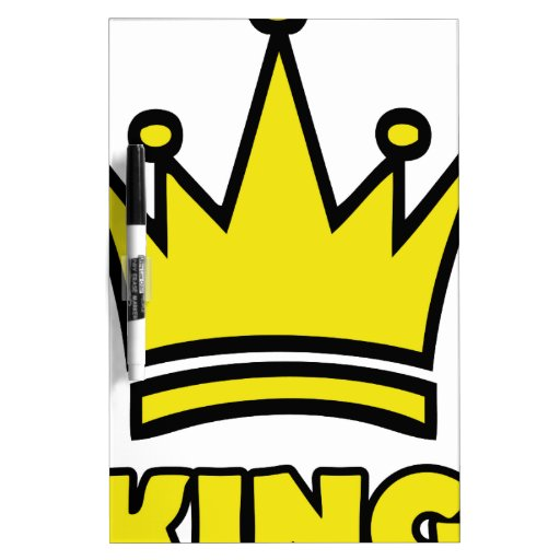 icono de oro de la corona del rey pizarra blanca