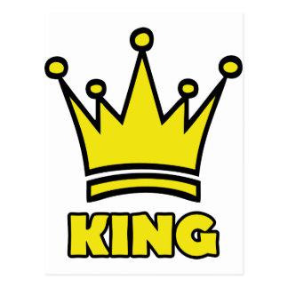 icono de oro de la corona del rey tarjetas postales