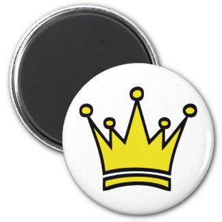 icono de oro de la corona imán redondo 5 cm