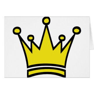icono de oro de la corona tarjeta de felicitación