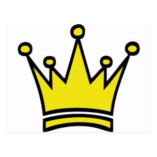 icono de oro de la corona postales