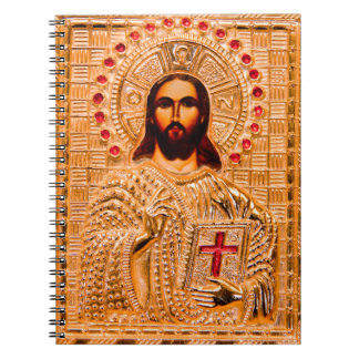 Icono de oro del Jesucristo Cuadernos