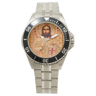 Icono de oro del Jesucristo Reloj De Mano