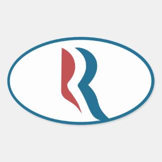 Icono de Romney Colcomanias De Oval Personalizadas