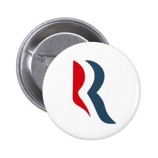 Icono de Romney Pin Redondo De 2 Pulgadas