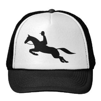 icono de salto del caballo gorros bordados