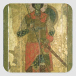 Icono de San Jorge, 1130-50 Calcomania Cuadradas Personalizada