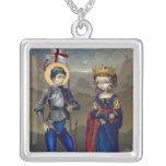 Icono de San Jorge y de princesa Sabra NECKLACE Collar Personalizado