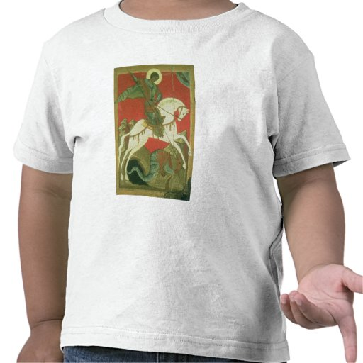 Icono de San Jorge y del dragón Camisetas
