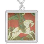 Icono de San Jorge y del dragón Colgante Cuadrado