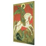 Icono de San Jorge y del dragón Impresión De Lienzo