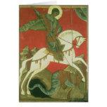 Icono de San Jorge y del dragón Tarjetas