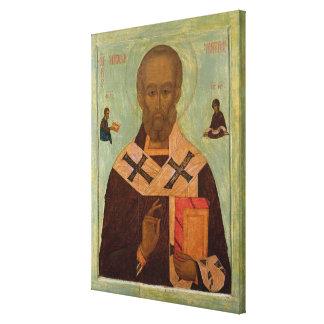 Icono de San Nicolás Impresion En Lona