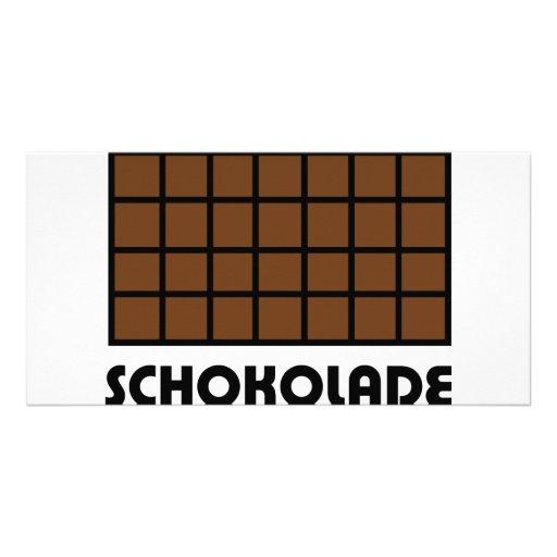 Icono de Schokolade Tarjeta Con Foto Personalizada