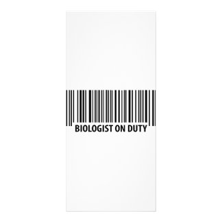 icono de servicio de la clave de barras del biólog tarjeta publicitaria