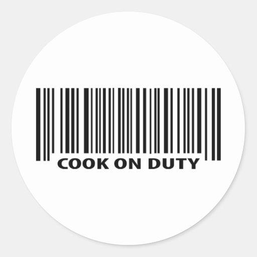 icono de servicio del cocinero pegatinas redondas