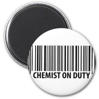 icono de servicio del químico imán redondo 5 cm