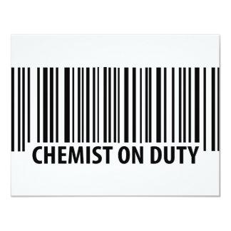 """icono de servicio del químico invitación 4.25"""" x 5.5"""""""