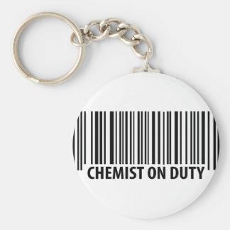icono de servicio del químico llavero redondo tipo pin