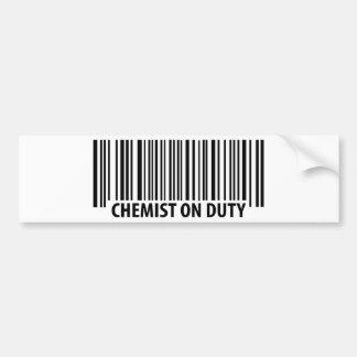 icono de servicio del químico pegatina para auto