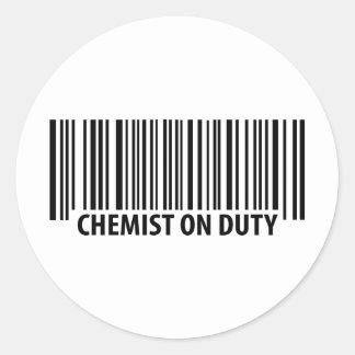 icono de servicio del químico pegatina redonda