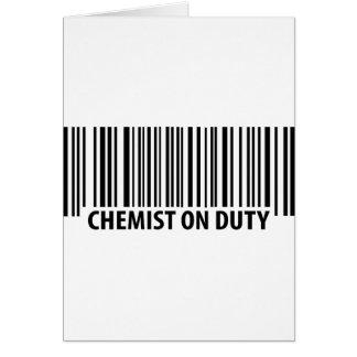 icono de servicio del químico tarjeta de felicitación