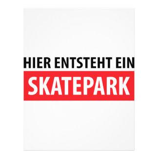 Icono de Skatepark del ein del entsteht de Hier Tarjetón