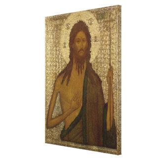 Icono de St. John el precursor Lona Envuelta Para Galerías
