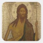 Icono de St. John el precursor Calcomania Cuadradas Personalizada